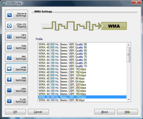 AUDIOzilla Audio Converter Screenshot